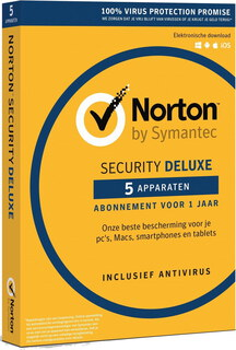 Symantec Security Deluxe 3.0 - 5 toestellen - 1 jaar