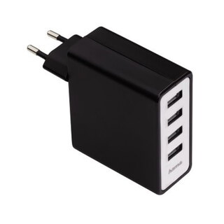 Hama 220V 4-PORT USB CHARGER 5.1A 54182