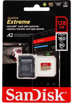 Sandisk Extreme® micro SDXC A2 - 128 GB