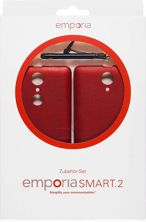 Emporia Backcover + stylet pour Smart.2 - Rouge