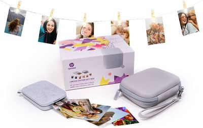 HP Gift Box Sprocket 200 Blanc + sac de transport + LED clips