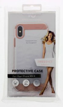 White Diamonds Backcover Innocence Clear pour iPhone Xs - Or rose