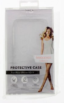 White Diamonds Backcover Innocence Clear voor iPhone Xs - Wit
