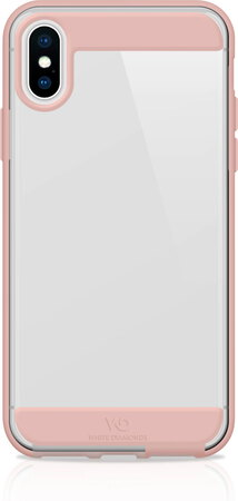 White Diamonds Backcover Innocence Clear voor iPhone Xs Max - Roségoud