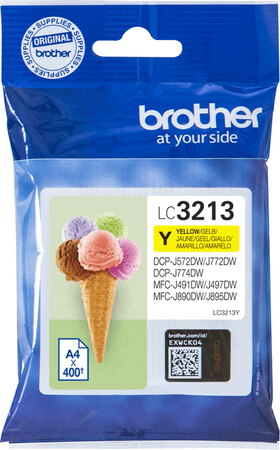 Brother Cartouche d'encre LC3213Y Jaune
