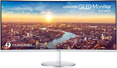 "Samsung 34"" Curved QLED - LC34J791WTUXEN"
