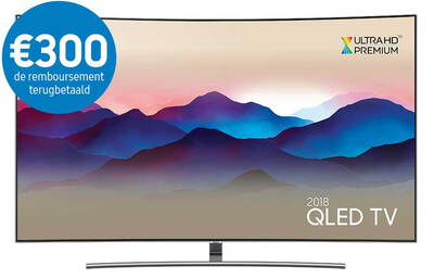 "Samsung TV QE65Q8CN (2018) - 65"" QLED Smart Ambient Mode Curved 4K UHD TV"