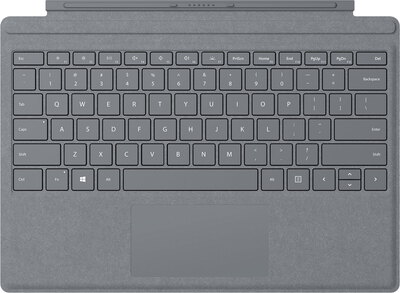 Microsoft Signature Type Cover voor Surface Pro - Platina