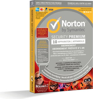 Norton Security Premium - 1 jaar - 10 toestellen
