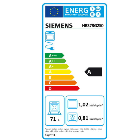 Siemens Four encastrable HB378G2S0 activeClean
