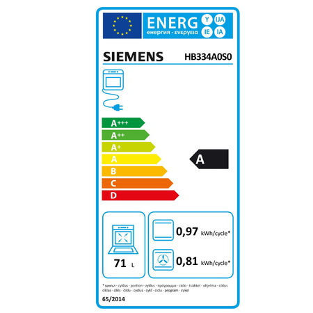 Siemens Four encastrable HB334A0S0 ecoClean Plus
