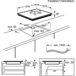 AEG Table de cuisson IKE64471XB FlexiBridge