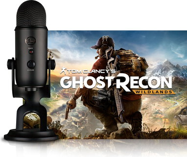 BLUE MICROPHONE USB-microfoon Yeti - Blackout + PC-spel Ghost Recon® Wildlands