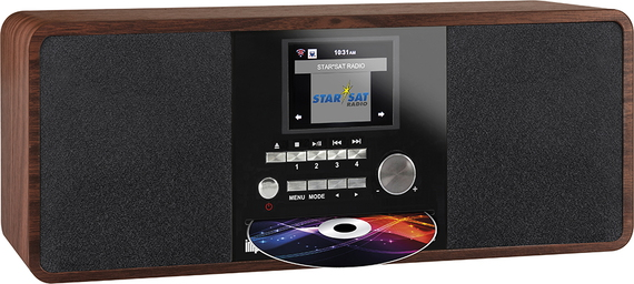 Imperial Dabman i200 Internetradio - Walnoot Hout