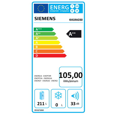 Siemens Inbouw koelkast KI41RAD30 coolEfficiency