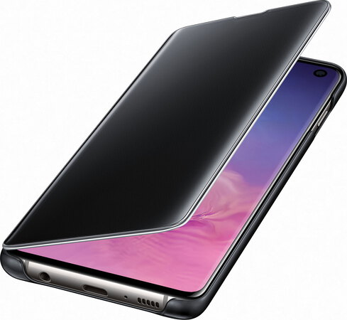 Samsung Clear View cover voor Galaxy S10 - Zwart