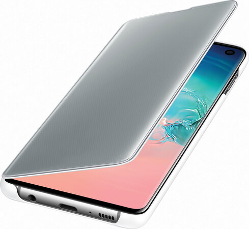 Samsung Clear View cover voor Galaxy S10 - Wit