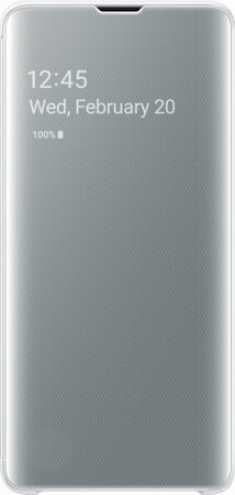 Samsung Clear View cover pour Galaxy S10 - Blanc