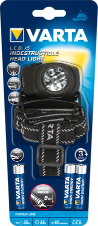 Varta Lampre frontale LED X5 Indestructible H10