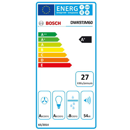 Bosch Hotte décorative DWK97JM60 HeadFree