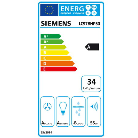 Siemens Hotte décorative LC97BHP50 Box-Design