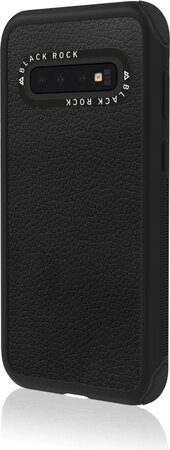 Black Rock Backcover Robust Real Leather voor Galaxy S10 - Zwart
