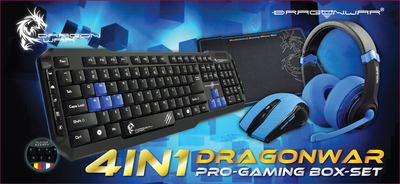 Dragon 4-en-1 Pro Gaming Box-Set - Bleu