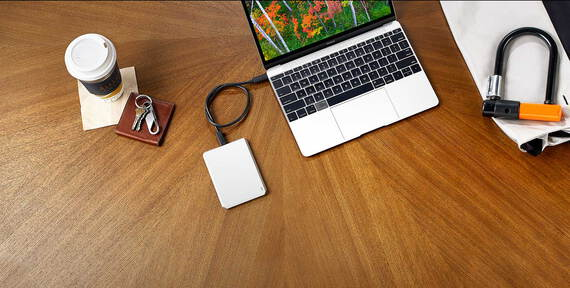 Lacie Mobile Drive USB C Moon Silver - 2 To