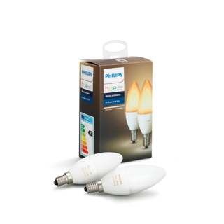 PHILIPS HUE Ampoule E14 duopack - White ambiance 8718696695265