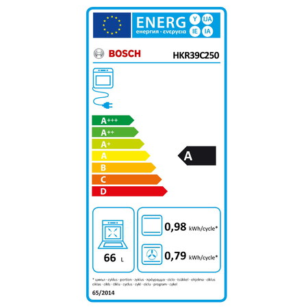 Bosch Fornuis HKR39C250 EcoClean