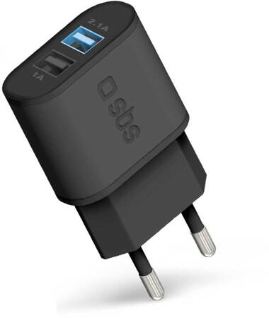 SBS Chargeur courant avec Fast Charge - 2x USB - Noir