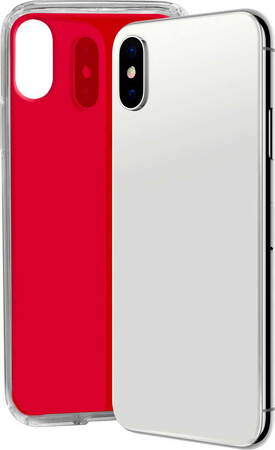 SBS Glue case voor iPhone X en Xs - Rood