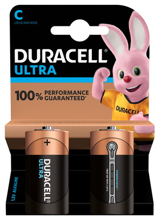 Duracell Ultra Power Piles Alcalines type C, Lot de 2 piles