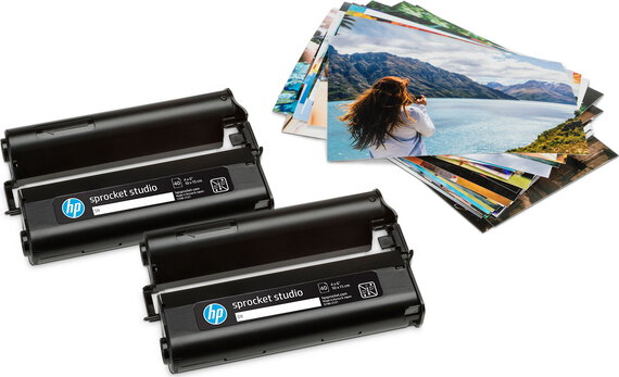 HP 2 Sprocket Studio-cartridges met 80 vellen fotopapier (10 x 15 cm)