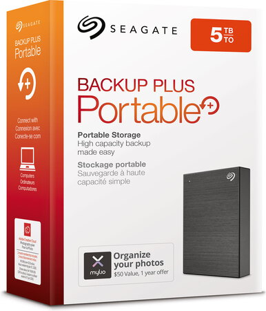 Seagate Backup Plus Portable USB 3.0 - 5 To - Noir - STHP5000400