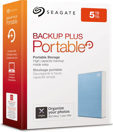 Seagate Backup Plus Portable USB 3.0 - 5 To - Bleu - STHP5000402