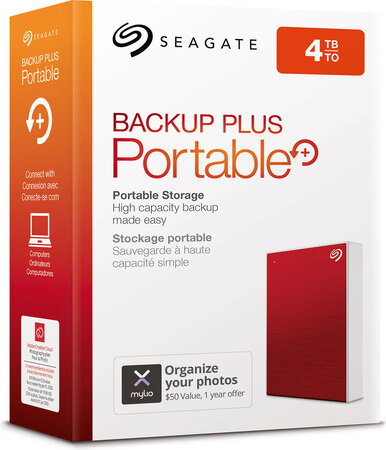 Seagate Backup Plus Portable USB 3.0 - 4 To - Rouge - STHP4000403