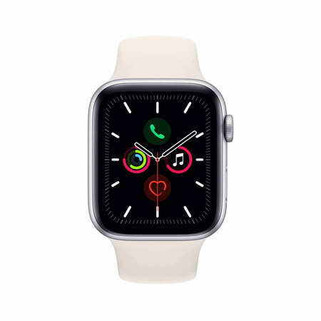 Apple Watch Series 5 - Aluminium Silver/White 44mm