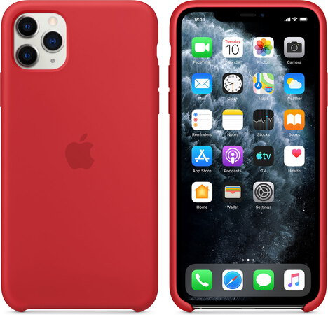 Apple Coque en silicone pour iPhone 11 Pro Max RED™ - MWYV2ZM/A