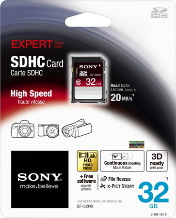 Sony SDHC-kaart SF-32NX - 32 GB
