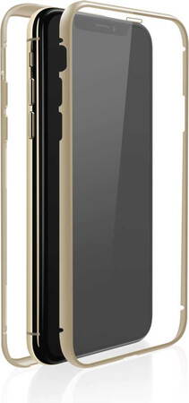 White Diamonds Cover 360° Glass voor iPhone 11 Pro - Goud