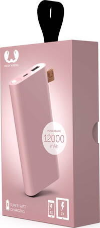 Fresh 'n Rebel Powerbank - 12.000 mAh - Dusty Pink - 2PB12000DP