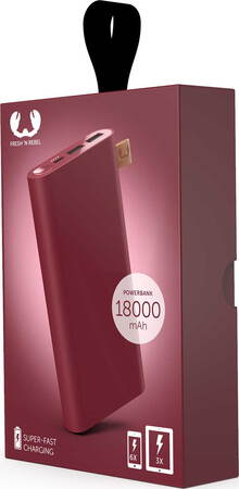 Fresh 'n Rebel Powerbank - 18.000 mAh - Ruby Red - 2PB18000RR