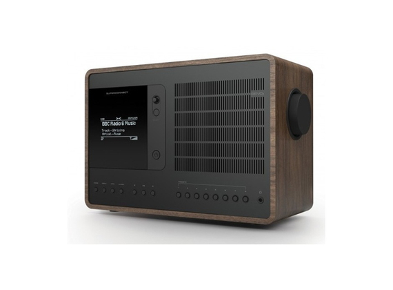 Revo SuperConnect - Wekkerradio FM Dab+ Bluetooth - Walnut/Zwart