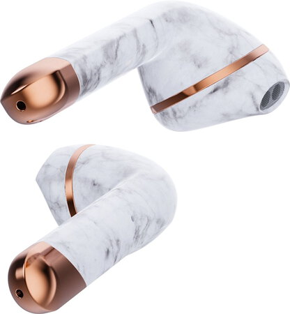 Happy Plugs AIR 1 Draadloze Oortjes - White Marble