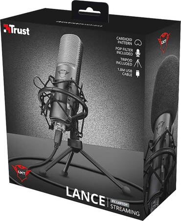 Trust Lance USB-streaming microfoon - GXT 242