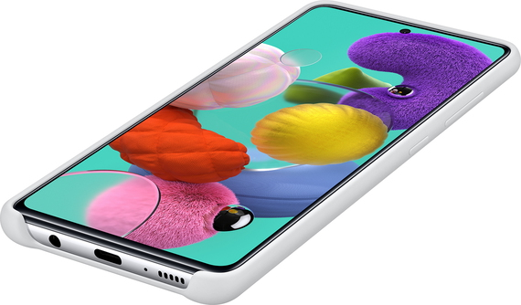Samsung Siliconen backcover voor Galaxy A51 - Wit