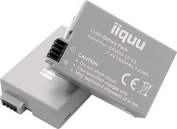 iiquu Batterij Digicam Power LP-E8 - 1.020 mAh - DCA016