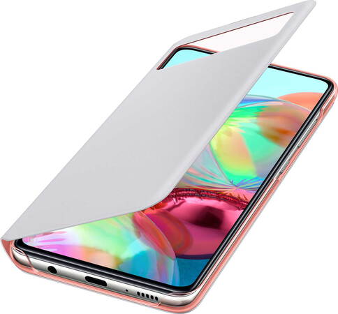 Samsung S View cover voor Galaxy A71 - Wit