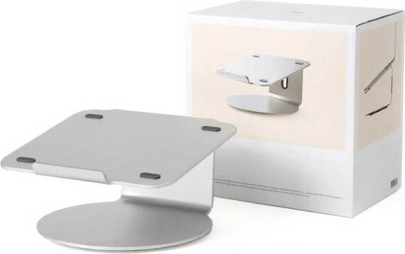 """POUT EYES4 360° draaibare stand voor 17,3"""" laptops - Zilver"""